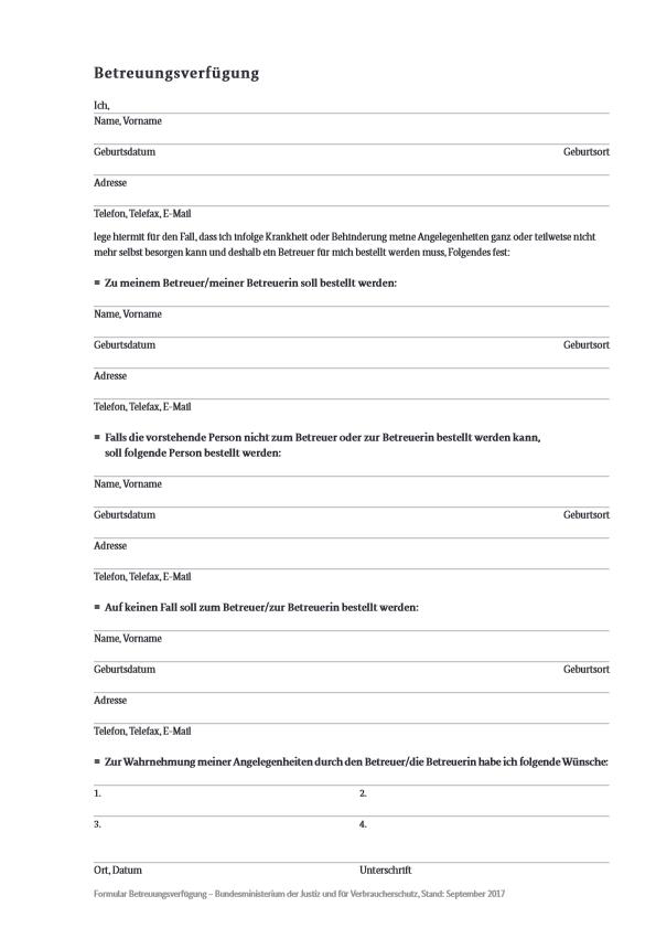 Betreuungsverfuegung pdf image