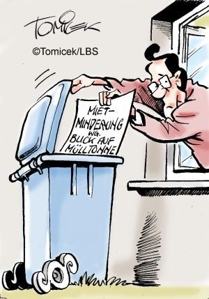 Ausblick zählt nicht, Rein optische Beeinträchtigung durch Mülltonnen ist hinzunehmen