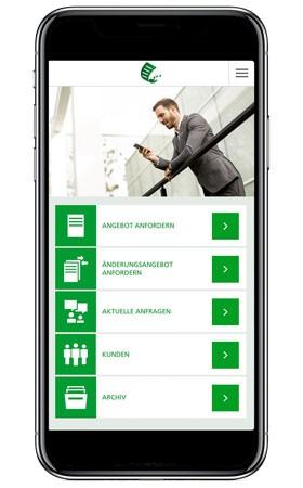 Smartphone mit HDI MyBusinessApp