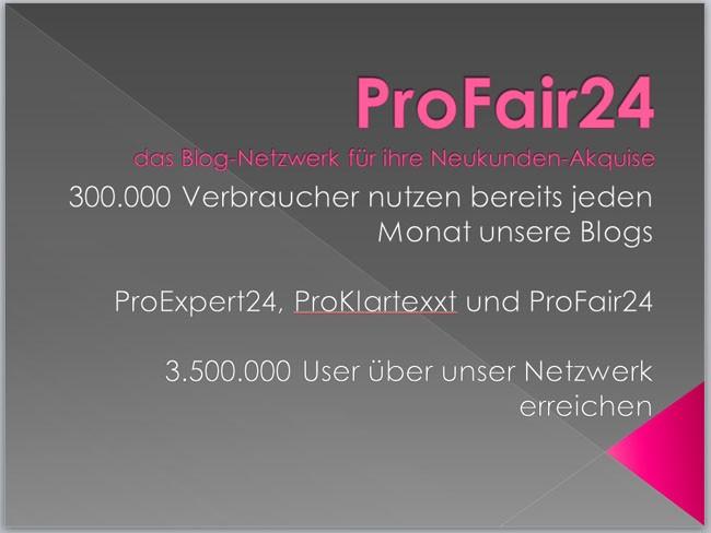 Neukunden-Akquise mit ProFair24