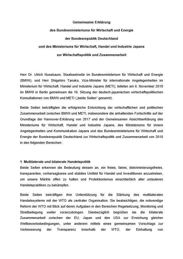 1573107194 gemeinsame erklaerung zur wirtschaftspolitik und zusammenarbeit pdf image