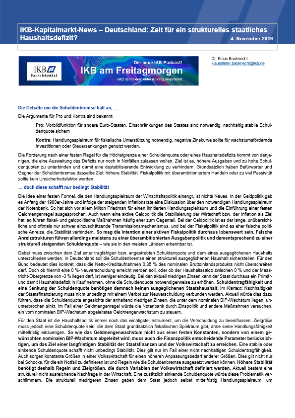1574691578 191104 IKB Kapitalmarkt News Schuldenbremse pdf image