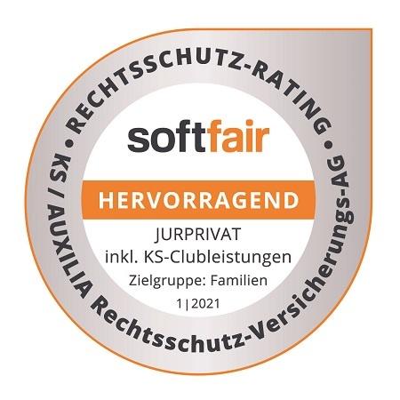 2021 01 softfair Rechtsschutz Rating AUXILIA JURPRIVAT Familie HERVORRAGEND 1