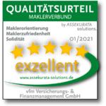vfm Versicherungs- & Finanzmanagement GmbH erzielt zum neunten Mal exzellentes Urteil im Maklerpool-Rating