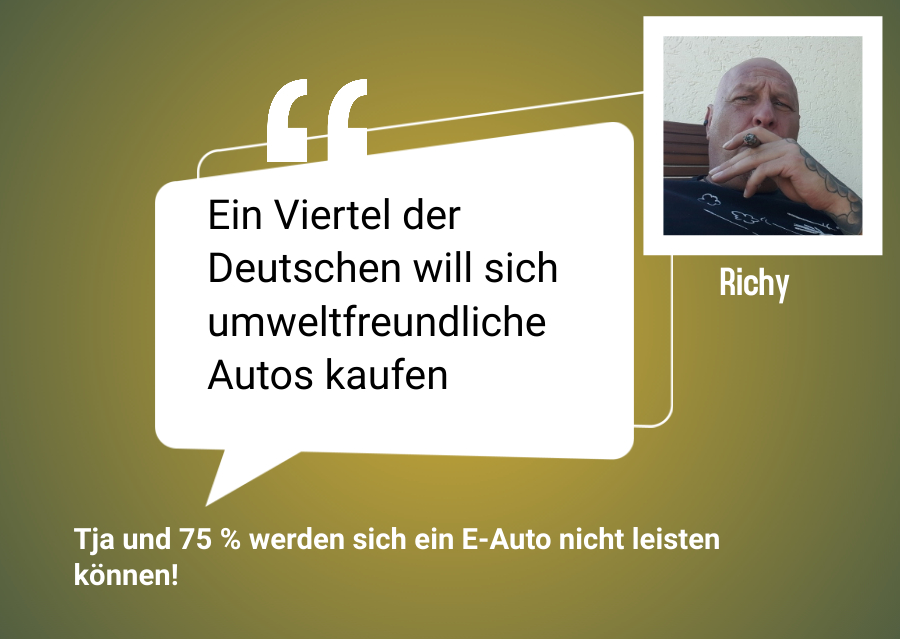 Ein Viertel der Deutschen will sich umweltfreundliche Autos kaufen