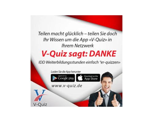 Promo-Code von V-Quiz, eine Weiterbildungsstunde